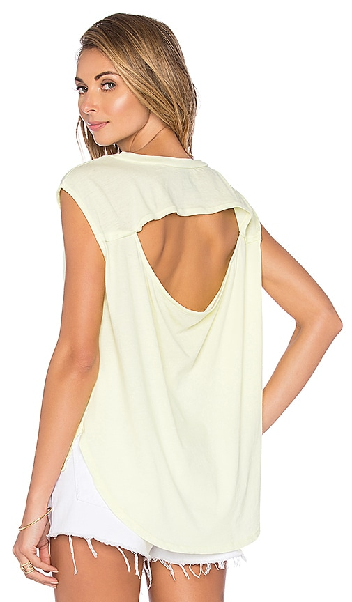 Lightweight Jersey Drape Back Cut Out Tee