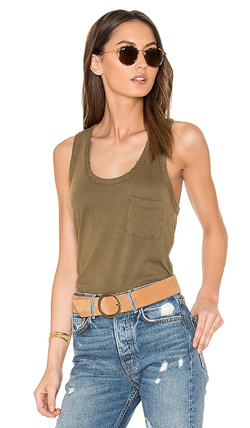 Distressed Jersey Racerback Tank