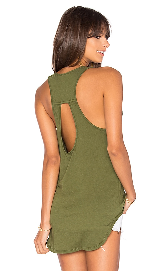 Bobi Light Weight Jersey Tank in Green
