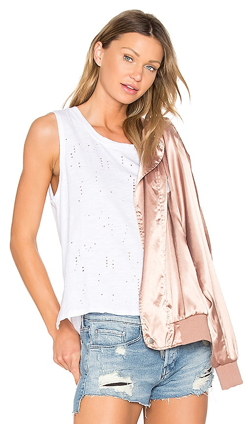 Bobi Destructed High Lo Tank in White