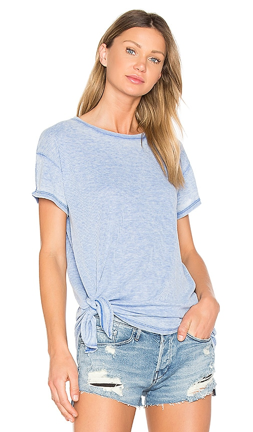 Bobi Burnout Tie Side Tee in Blue