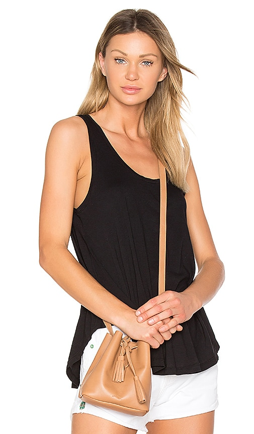 Bobi Light Weight Jersey Swing Tank in Black