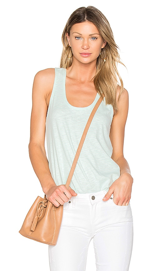 Bobi Stripe Racerback Tank in Mint