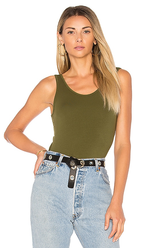 Bobi Tank Bodysuit in Green