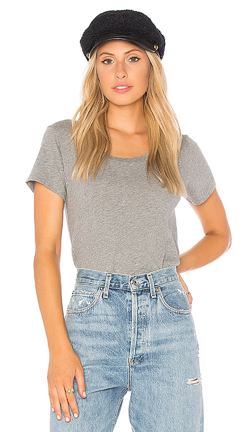 Bobi Slit Side Tee in Gray