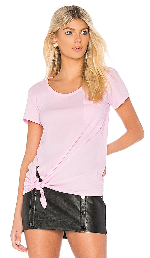 Bobi Lightweight Jersey Short Sleeve Tee in Pink