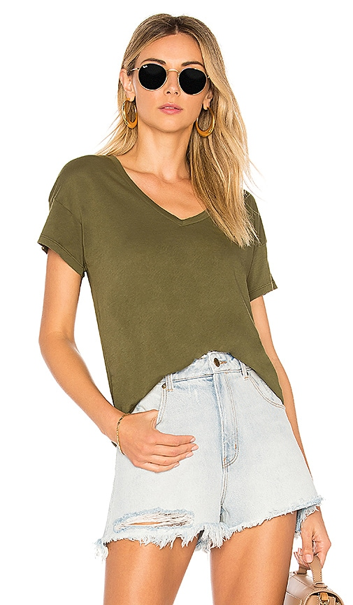 Bobi Lightweight Jersey Tee in Olive