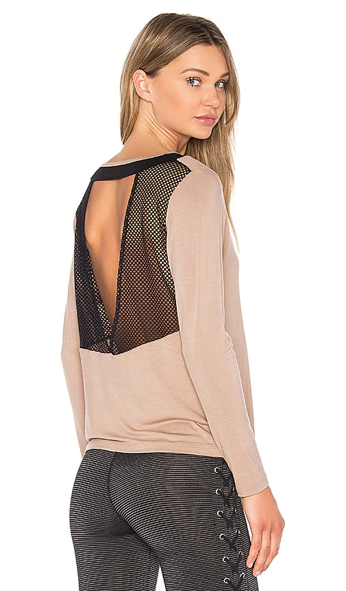 Body Language Gigi Vent Top in Beige