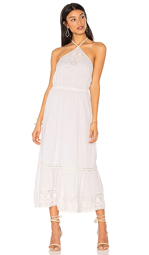 boemo Cayo Blanco Halter Midi Dress in White