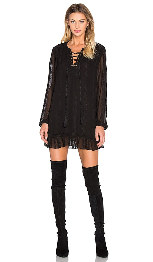 boemo Toulouse Ruffle Mini Dress in Black