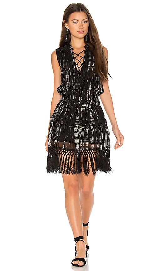 boemo Agua Negro Midi Dress in Black