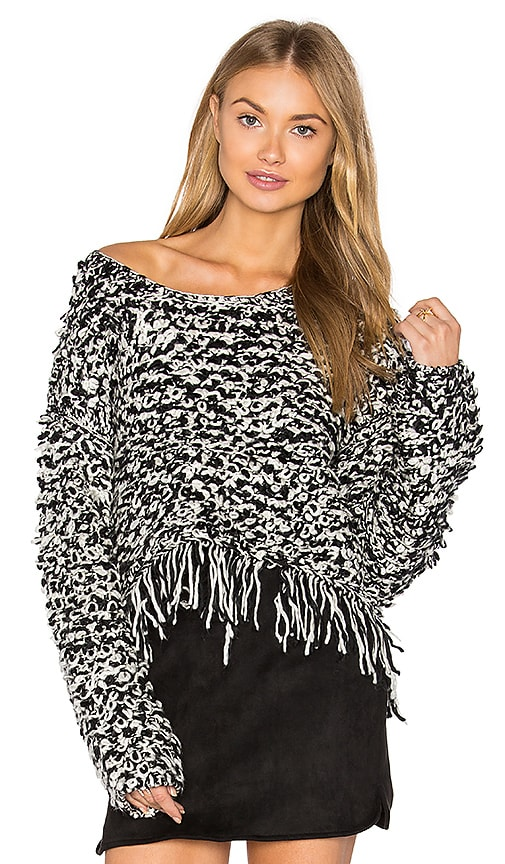 boemo Vendome Crop Sweater in Black & White