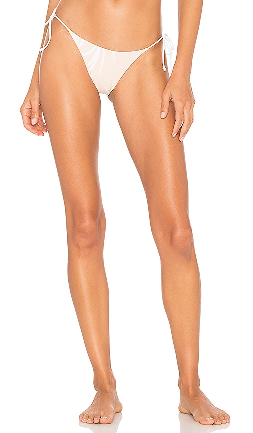 Bond Eye Rebel Ties Reversible Bikini Bottom in Tan