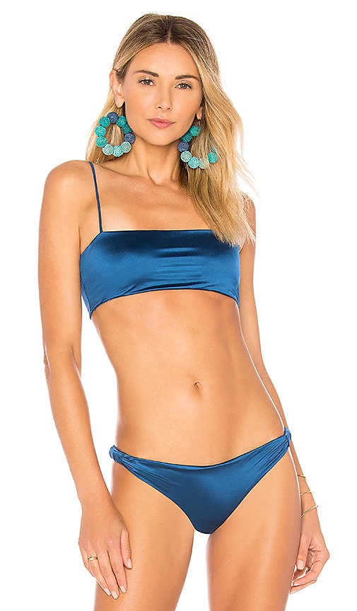 Bond Eye Brigitte Reversible Bikini Top in Blue