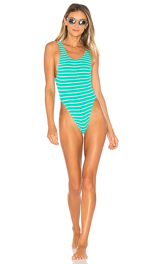 890cffa0a5 Bond Eye x BOUND Maxam One Piece Swimsuit in Spearmint   White ...