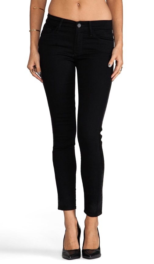Mid Rise Sequin Skinny