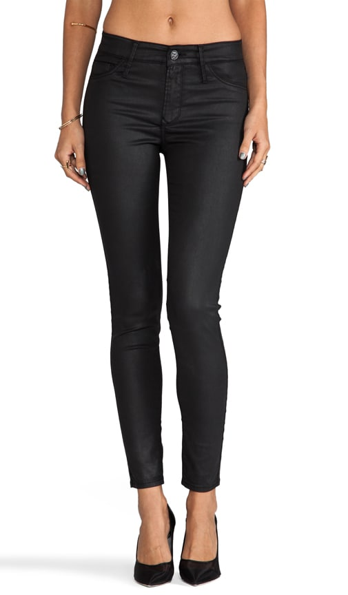 Coated Mid Rise Skinny
