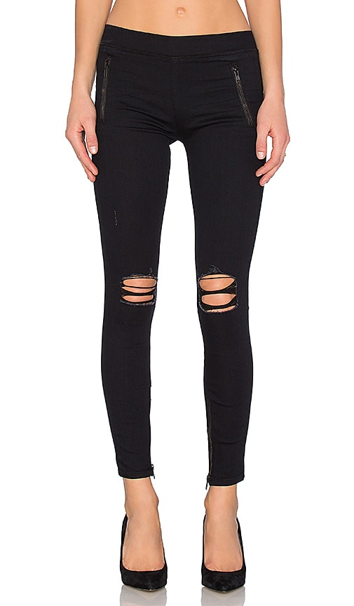 Black Orchid Zipper Legging in Blacklist