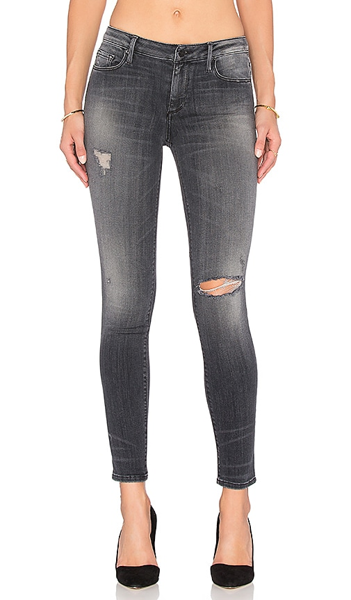 Black Orchid Jude Mid Rise Super Skinny in Raven