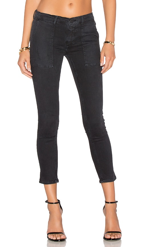Black Orchid Patch Pocket Skinny in Faded Black