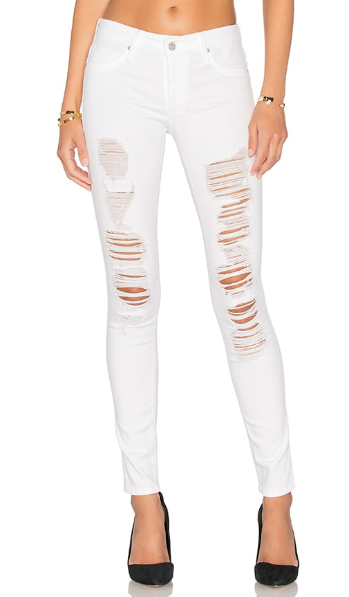 Black Orchid Jude Mid Rise Super Skinny in Frost