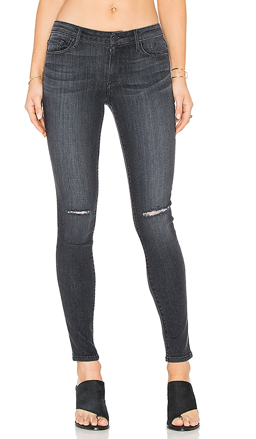 Black Orchid Jude Mid Rise Super Skinny in Carbon