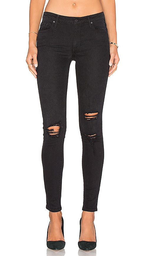 Black Orchid Jude Mid Rise Super Skinny in Black Rock