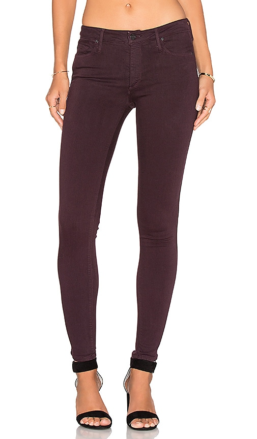 Black Orchid Jude Mid Rise Super Skinny in Sinful