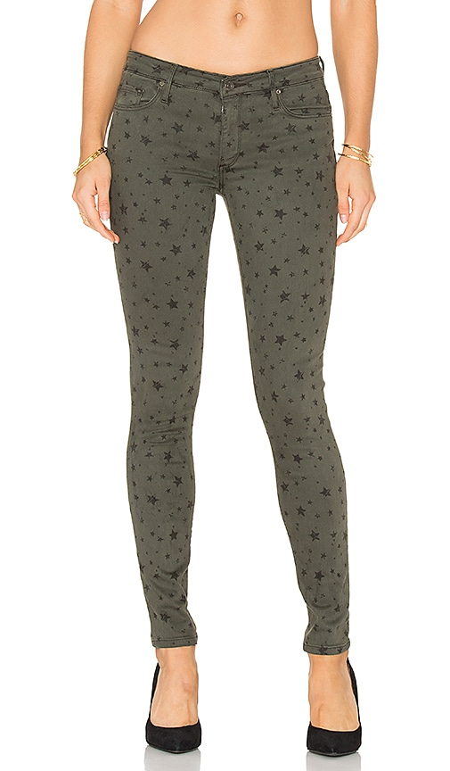 Black Orchid Jude Mid Rise Super Skinny in Green