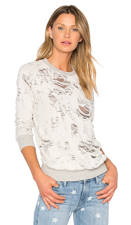 Black Orchid Burnout Sweatshirt in Gray