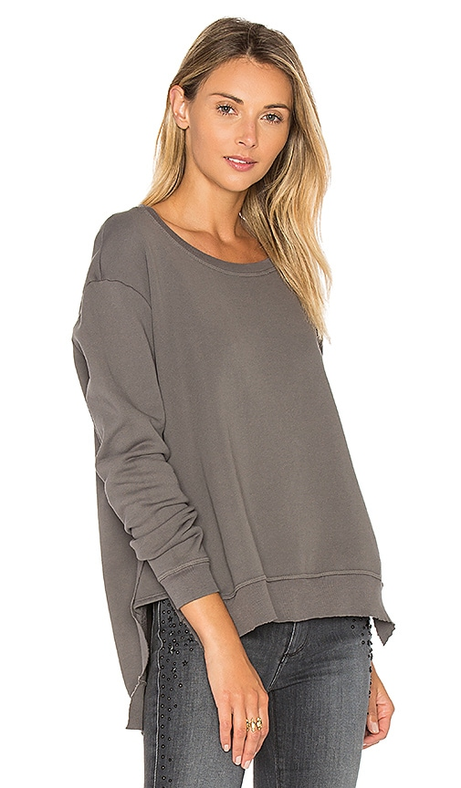 Black Orchid Boxy Asymmetrical Sweatshirt in Grey