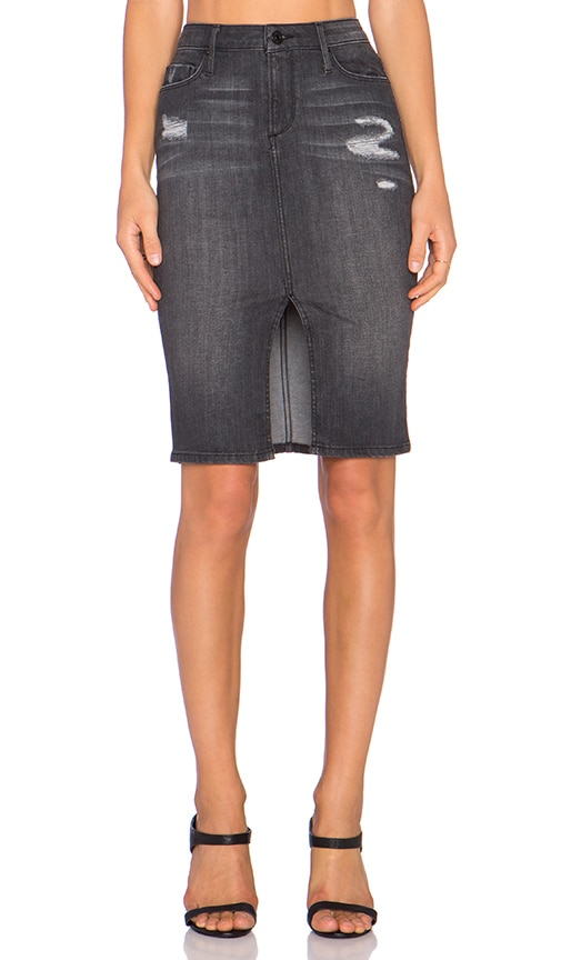 Black Orchid Pencil Skirt in Overcast