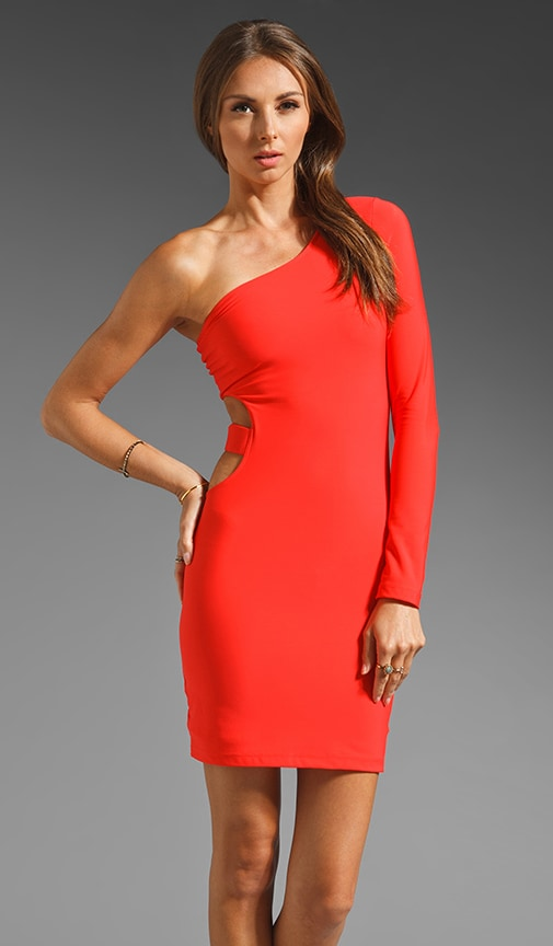 Allie One Shoulder Cut Out Dress
