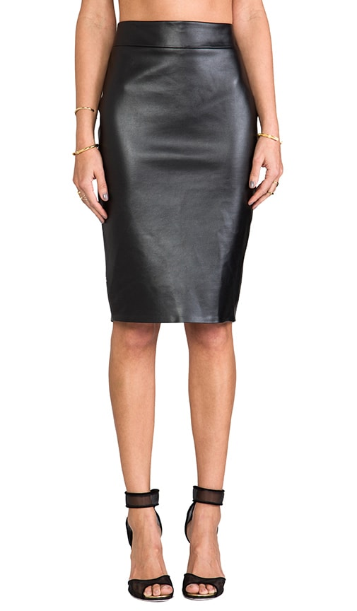Monica Vegan Leather Skirt