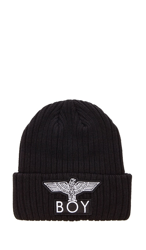 aeeee1cd40e BOY London Cuffed Boy Beanie in Black