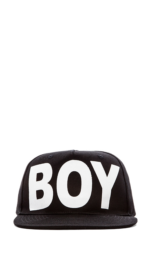 de31cb0df1a BOY London Boy Cap in Black   White