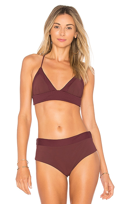 BOYS + ARROWS Dana the Delinquent Bikini Top in Burgundy