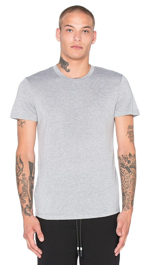 Brandblack Heather Tech Tee in Gray