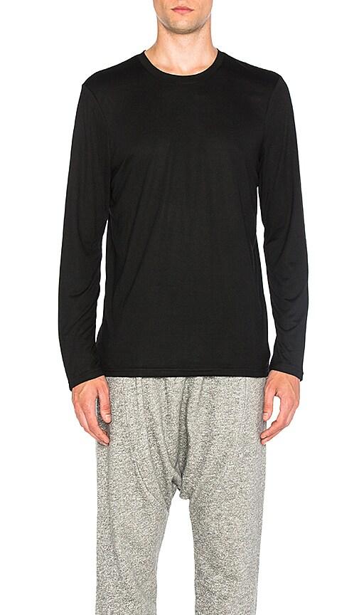 Brandblack Long Sleeve Tech T Shirt in Black