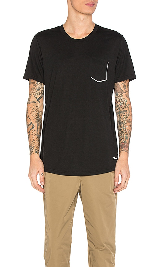 Brandblack Tech Reflective Chest Pocket Tee in Black