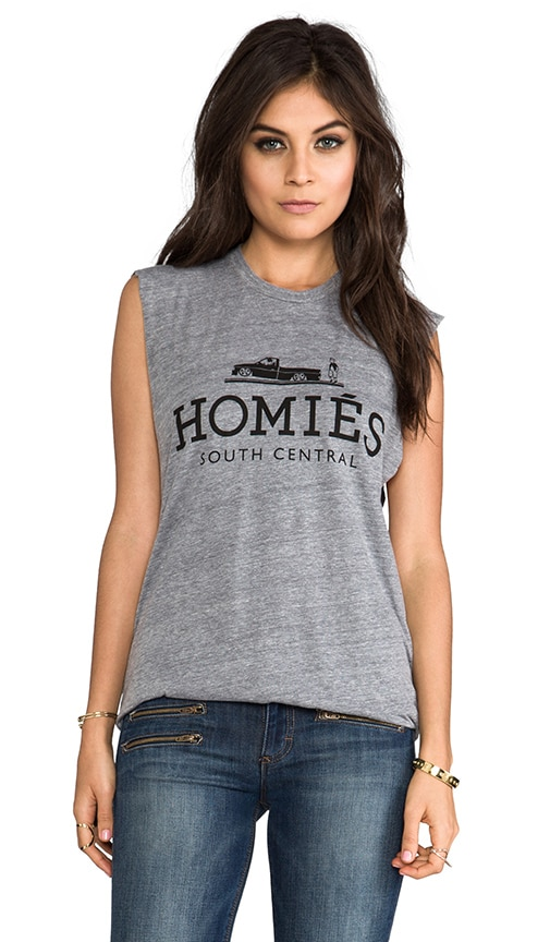 Brian Lichtenberg Homies Muscle Tee in Heather Grey & Black