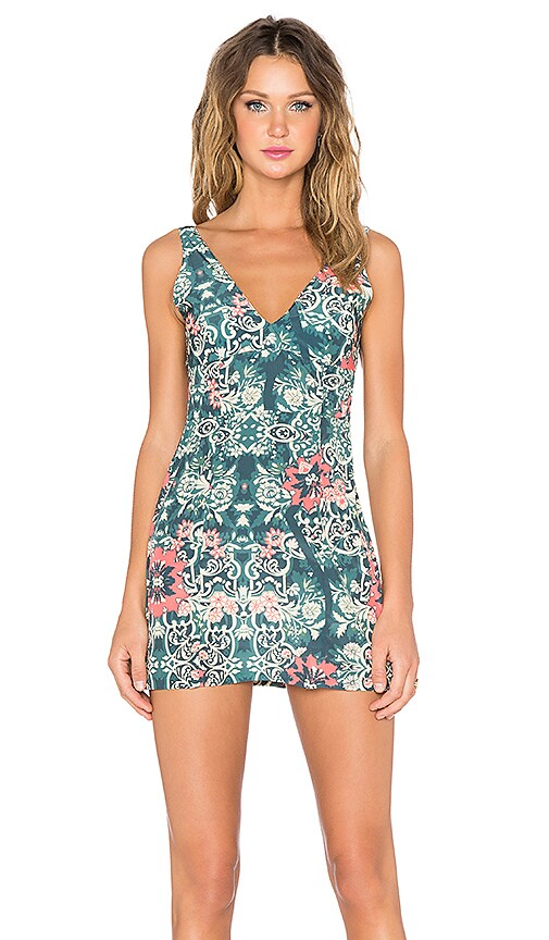 BEACH RIOT Costa Chica Dress in Green