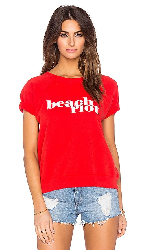 BEACH RIOT Beach Riot Fleece Tee in Red