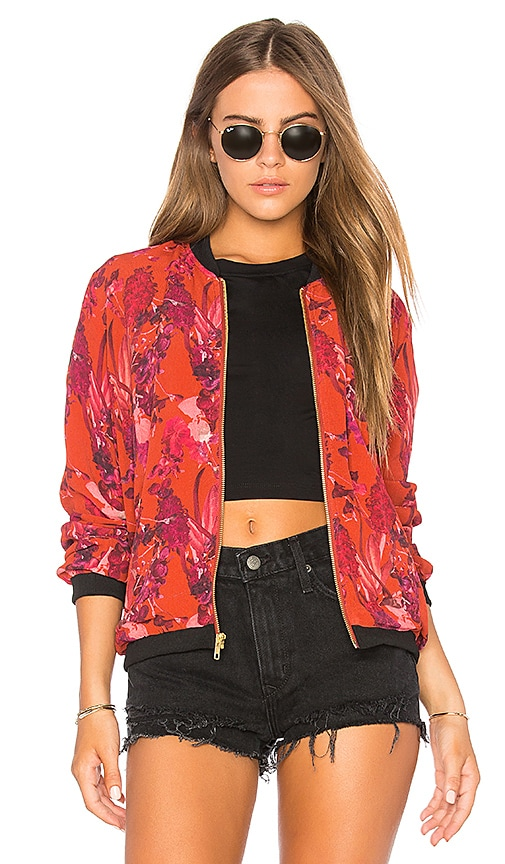 BEACH RIOT Babe Bomber in Red