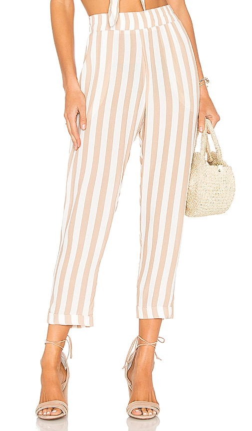 BEACH RIOT Carter Pant in White