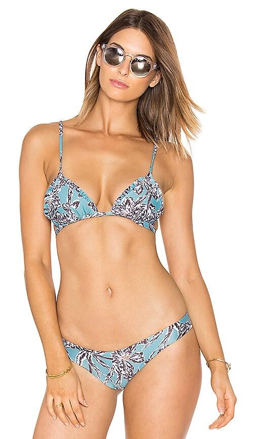 BEACH RIOT Anchor Bikini Top in Teal