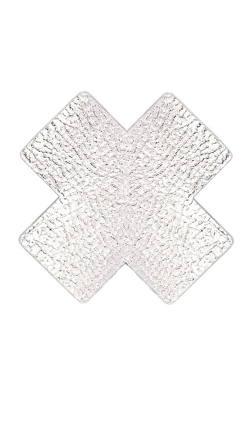 Silver Leather Cross