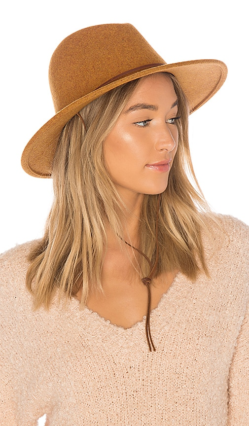 Brixton Field Hat in Brown
