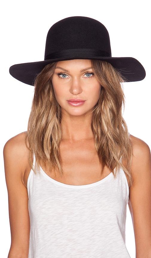 Brixton Magdalena Top Hat in Black  93bb55aa4e70