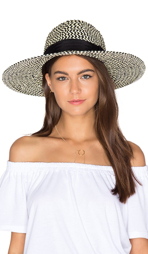 d94fc1561b4 Brixton Joanna Hat in Black   Cream